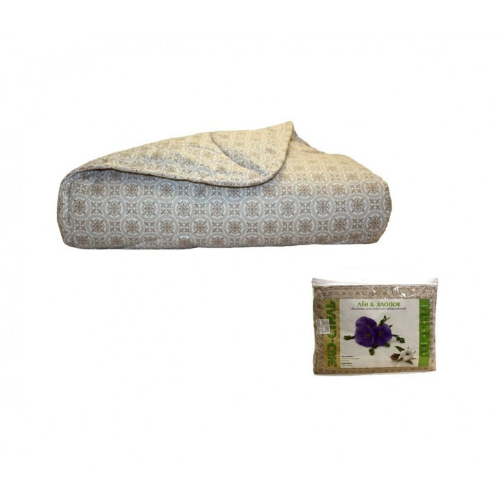 Одеяло Эко-стиль облегч. (200гр) Лён & Хлопок: ODEK-1
